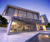 Contemporary house with pool 02